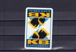 Dos D'une Carte à Jouer De La Brasserie KANTERBRÄU - Carte Da Gioco