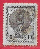 Iran (Perse) N°16A 10c Bleu-violet & Noir 1876 O - Iran
