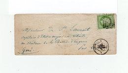 Sur Enveloppe Type Empire Franc 5 C Vert. Oblitéré Losange. CAD Lyon 1957. C. Ambulant Lyon à Marseille. (1139x) - 1849-1876: Période Classique