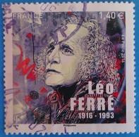 France 2016 : Léo Ferré, Poête Et Musicien Français N° 5080 Oblitéré - France