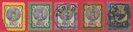 Iran (Perse) N°24 à 28 1879-80 O - Iran