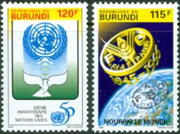 BURUNDI 1995 - Conférence FAO Et 50ème Anniv. De L'ONU - 2 V. - Burundi