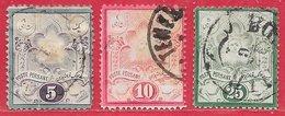 Iran (Perse) N°29 à 31 1881 (gravé) O - Iran