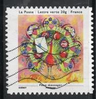 2013 Paon Messager: Valeur Faciale 0,58 € Timbre Oblitéré De FRANCE Carnet «Les Petits Bonheurs» - France