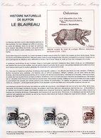- MAMMIFÈRES - LE BLAIREAU - Document Philatélique Officiel PARIS 18.6.1988 - - Briefmarken