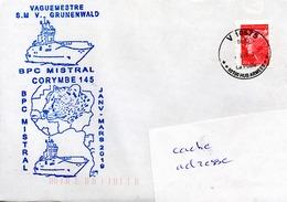BPC MISTRAL Mission CORYMBE 145 + Cachet Illustré Du Vaguemestre Obl. V10675 21/01/19 - Marcophilie (Lettres)
