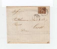 Sur Lettre AC Type Sage 30 C. Brun Jaune CAD Lyon Les Tereaux 1881. Destination: Crest. Drôme. (1141x) - Marcophilie (Lettres)
