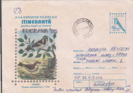 76798- HOUSE SPARROW, BIRDS, COVER STATIONERY, 1995, ROMANIA - Moineaux