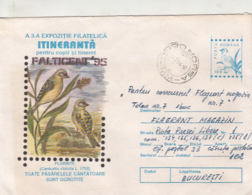 76800- HOUSE SPARROW, BIRDS, COVER STATIONERY, 1996, ROMANIA - Moineaux