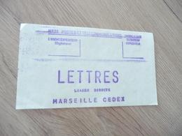 TP France étiquette Lettres Liasse Directe Marseille Cedex - Autres