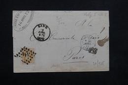 BELGIQUE - Lettre De Gand Pour La France ( Paris ) En 1872 , Voir Cachets - L 23596 - 1869-1883 Leopold II