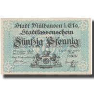 France, Mulhouse, 50 Pfennig, 1918, SUP - Bons & Nécessité