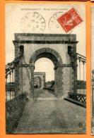 MOL411, Fourchambault, Entrée Du Pont Suspendu, Circulée 1918 - Autres Communes