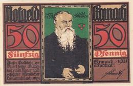 Billet Allemand - 50 Pfennig - Kronach 1921 - Stadtwappen, Lucas Cranach-Porträt - [11] Emissions Locales