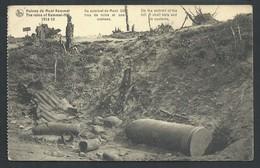 +++ CPA - Ruines De KEMMEL - Guerre 1914-18 -Au Sommet Du Mont - Trou De Mine Et Son Contenu - Publicité Blue Band  // - Heuvelland