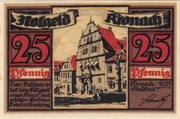Billet Allemand - 25 Pfennig - Kronach 1921 - Hôtel De Ville - [11] Emissions Locales