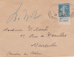 N° 140 Pub Biscuits Olibet S / Env T.P. Ob Cad Chalons S Marne 22 ..25 - Marcophilie (Lettres)