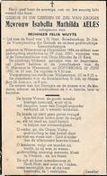 Wezemaal, 18950, Isabella Aeles, Wuyts - Images Religieuses