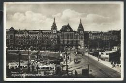 +++ CPA - Photo Carte - Foto Kaart - Pays Bas - AMSTERDAM - Centraal Station - Tram   // - Amsterdam