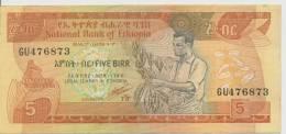ETHIOPIA P. 42c 5 B 1991 AUNC - Ethiopie