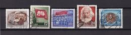 DDR - 1953 - Michel Nr. 245/47+349+353 - Gest. - DDR