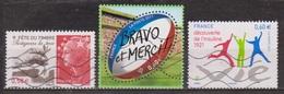Protègeons La Terre - FRANCE - Sport: Rugby - Découverte De L'insuline - N° 4534-4612-4630 -  2011 - France