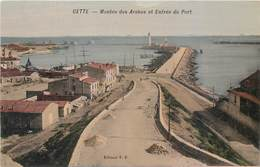 CPA 34 Hérault Sete Cette Montée Des Arabes Et Entrée Du Port Non Circulée - Sete (Cette)