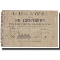 France, LE HÉRIE-LA-VIÉVILLE, 25 Centimes, 1915, TB - Bons & Nécessité