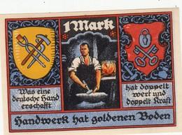 Billet Allemand - 1 Mark - Stolzenau An Der Weser 1921 - Forgeron - [11] Emissions Locales