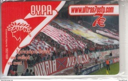 GREECE - Olympiacos F.C., Ultras Gate 7, Algonet Prepaid Card 7 Euro, Tirage 10.000, Mint - Greece