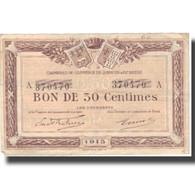France, Quimper Et Brest, 50 Centimes, 1915, TTB - Bons & Nécessité