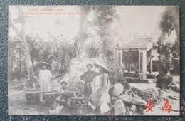 Indochine  Pagodon Pres Concession Hué Cpa Timbrée - Viêt-Nam