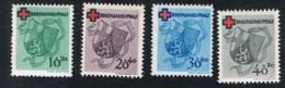 1949 25. Feb. DRK Rheinland-Pfalz Mi DE-FRP 42A - 45A Yt DE-FRP 41 - 44 Sg DE-FR 42 - 45 Postfrisch Xx - Französische Zone
