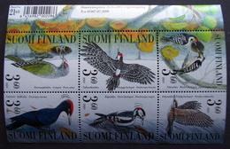 Finland 2001  BIRDS  MiNr.1568-73  BLOCK 27   MNH (**) ( Lot   2012 ) - Unused Stamps