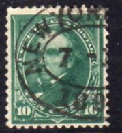 USA 1894-5 10c Blue-green Webster Definitive, Triangles Added, U, SG 260 - Used Stamps