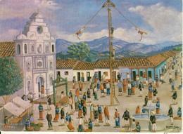 Palo Volador  Joyabaj - Quiché  Guatemala C . A  Illustrateur Vicente Sima Cpsm Format 10-15 - Guatemala