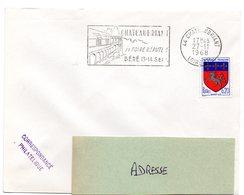 LOIRE ATLANTIQUE - Dépt N° 44 = CHATEAUBRIANT 1968 = FLAMME Codée =  SECAP  Illustrée 'foire Réputée / BÉRÉ'' - Postmark Collection (Covers)