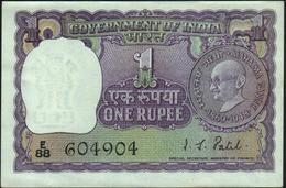 INDIA - 1 Rupee Nd.(1969-1970) {with Staple Hole} {Mahatma Gandhi} AU-UNC P.66 - Inde
