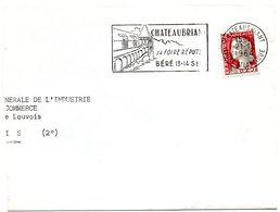LOIRE ATLANTIQUE - Dépt N° 44 = CHATEAUBRIANT 1964 = FLAMME Non Codée =  SECAP  Illustrée 'foire Réputée / BÉRÉ'' - Postmark Collection (Covers)