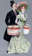 Publicité PLV Carton GEORGETTE Paris Bd Haussman (dessin De MISTI) (PPP10204) - Advertising