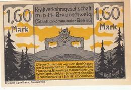 Billet Allemand - 1,60 Mark - Braunschweig 1921 - [11] Emissions Locales