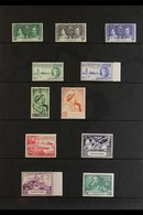 KGVI BRITISH EMPIRE OMNIBUS ISSUES High Quality Mint (the Great Majority Never Hinged) And Used ALL DIFFERENT Collection - Stamps