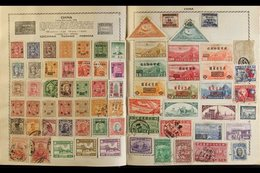 A WELL FILLED TRIUMPH ALBUM Circa 1950's In Sound Condition, And Containing An 1850's To 1960's Mint And Used World Coll - Stamps