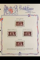 1937 KGVI CORONATION OMNIBUS COMPLETE, Presented On Special, Printed Pages, Very Fine Mint (202 Stamps). For More Images - Unclassified
