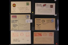 CARS & MOTORING ADVERTISING ENVELOPES & METER MAIL We Note Interesting Group Of Covers, With Advert Envs For Dunlop, Sco - Stamps