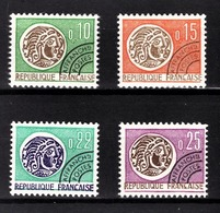 FRANCE  1964 / 1976 - SERIE Y.T. N° 123 A 126 - 4 PREO NEUF** - Préoblitérés