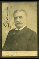 GUILLERMO UDAONDO SIGNATURE. 1904 Picture Postcard Portrait, Signed G. UDAONDO, An Argentinian Politician And Governor O - Argentina