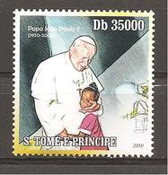 S.TOME'& PRINCIPE - 2010 90° Anniv. Nascita GIOVANNI PAOLO II  1v.  Nuovo** MNH - Papi