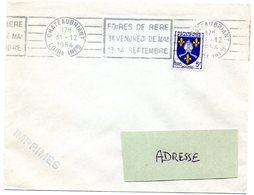 LOIRE INFERIEURE - Dépt N° 44 = CHATEAUBRIANT 1954 = FLAMME RBV 'FOIRES De BÉRÉ / 3e VENDREDI De MAI + SEPTEMBRE' - Postmark Collection (Covers)