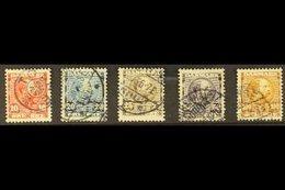 1904-06 Coarse Background Complete Set, SG 104/108, Fine Used. (5 Stamps) For More Images, Please Visit Http://www.sanda - Danemark